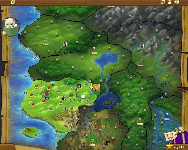 Bubble Witch Saga, king, review, world, map  - Bubble Witch Saga