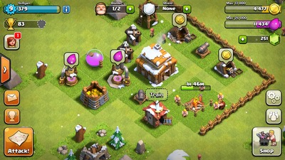 Clash of Clans, rts, map, building