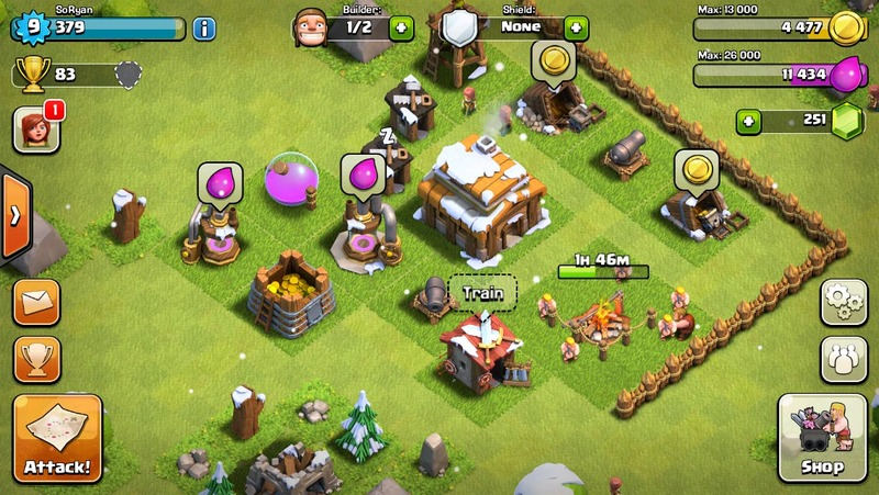Clash of Clans, rts, map, building  - Clash of Clans