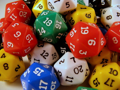 Dice, d20, 20-sided