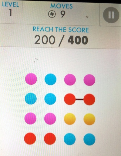Game, phone, colours, dots, lines, iPhone, arcade, entertainment