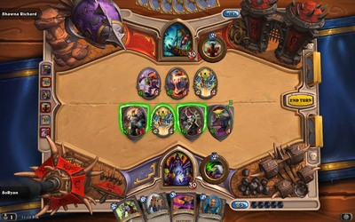 Hearthstone match minion attack