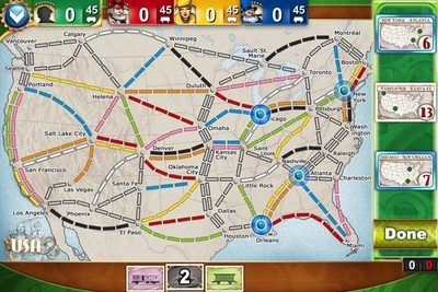 Ticket to ride pocket, screenshot