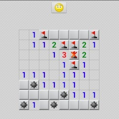 android, tablet, computer game, minesweep  - Minesweeper