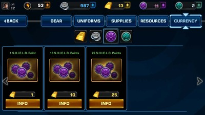 Avengers Alliance Shop