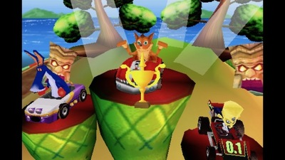 crash bandicoot, nitrokart, 3d, iOS, android, game, racing