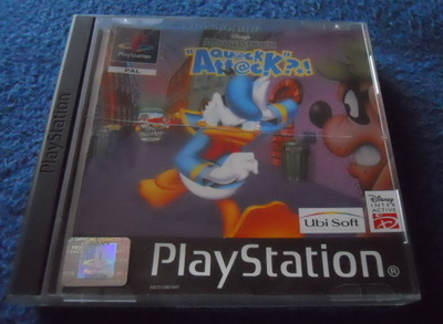 donald duck, quack attack, ps1, playstation