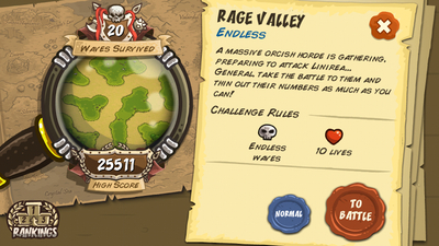 Kingdom Rush Survival Mode Rage Valley