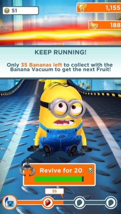 Minion Rush Game Over