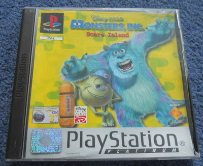 monsters inc., scare island, scream team, ps1, playstation one