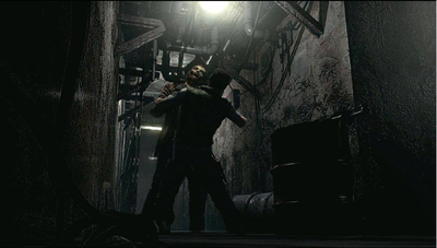 Screenshot of the Resident Evil REmake