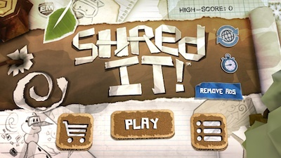 Shred it, app, iOS, android, game, arcade, endless runner, snowboarding