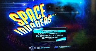 space invaders, retro, arcade, ps1, playstation