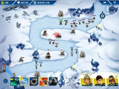 Star Wars Galactic Defense battle on Hoth