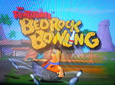 The Flintstones: Bedrock Bowling, playstation, ps1